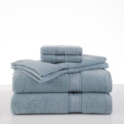 Staybright Solid 6 Piece Towel Set Color: Mineral