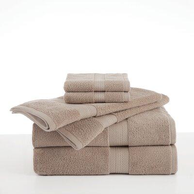 Abundance 6 Piece Towel Set Color: Linen