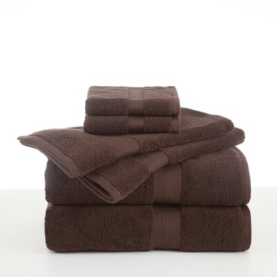 Abundance 6 Piece Towel Set Color: Chocolate