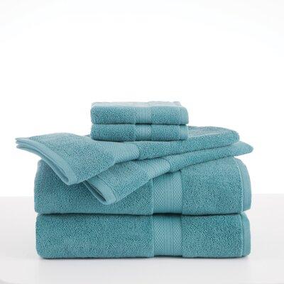 Alda Abundance 6 Piece Towel Set Color: Light Turquoise