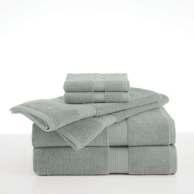 Abundance 6 Piece Towel Set Color: Silver Sage