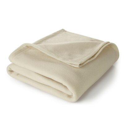 Super Soft Blanket Color: Ivory, Size: Twin