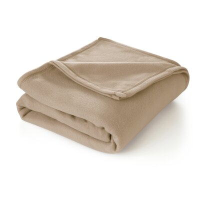 Super Soft Blanket Size: Twin, Color: Linen