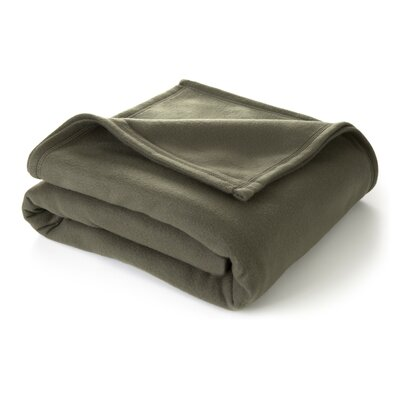 Super Soft Blanket Size: Twin, Color: Basil