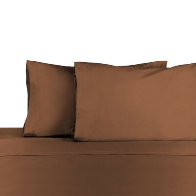 3 Piece 225 Thread Count Sheet Set Color: Chocolate, Size: Queen