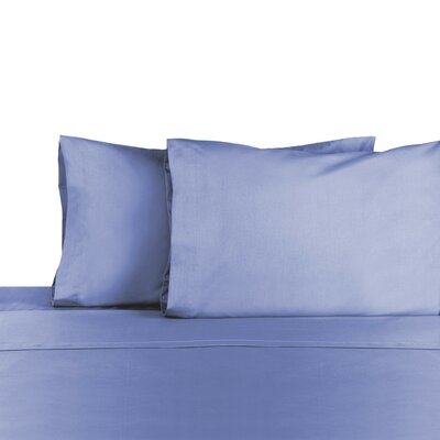 3 Piece 225 Thread Count Sheet Set Color: Ciel Blue, Size: Full/Double