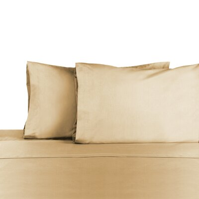 3 Piece 225 Thread Count Sheet Set Color: Khaki, Size: Full/Double