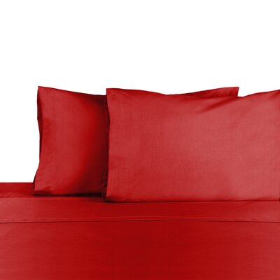 3 Piece 225 Thread Count Sheet Set Color: Paprika, Size: Queen