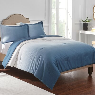 Reverie Comforter Set Color: Blue, Size: Twin
