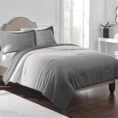 Reverie Comforter Set Color: Gray, Size: Full/Double/Queen