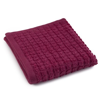 Staybright Textured Wash Cloth Color: Sangria