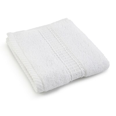 Staybright Solid Wash Cloth Color: Optical White
