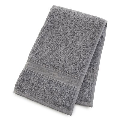 Staybright Solid Hand Towel Color: Monument Gray