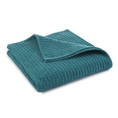 Staybright Textured Bath Towel Color: Peacock