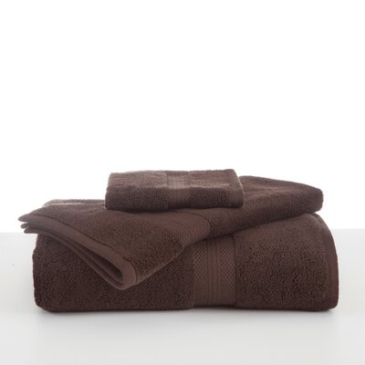 Abundance Hand Towel Color: Chocolate