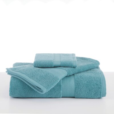 Abundance Wash Cloth Color: Light Turquoise