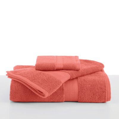 Abundance Wash Cloth Color: Peach Cream