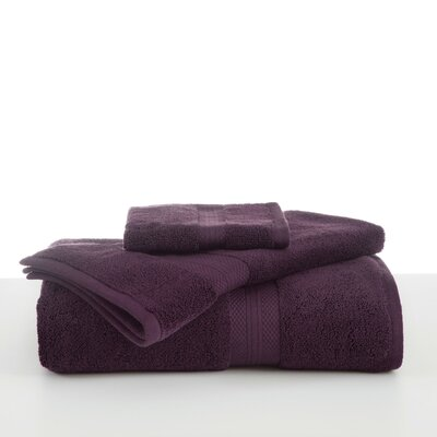 Abundance Wash Cloth Color: Black Plum
