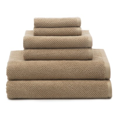 Oasis 6 Piece Organic Towel Set Color: Wheat
