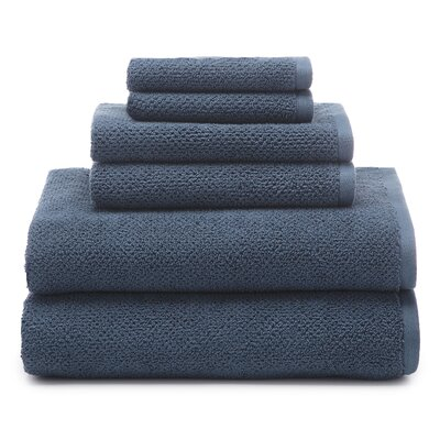 Oasis 6 Piece Organic Towel Set Color: Deep Sea Blue