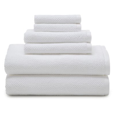 Oasis 6 Piece Organic Towel Set Color: Optical White