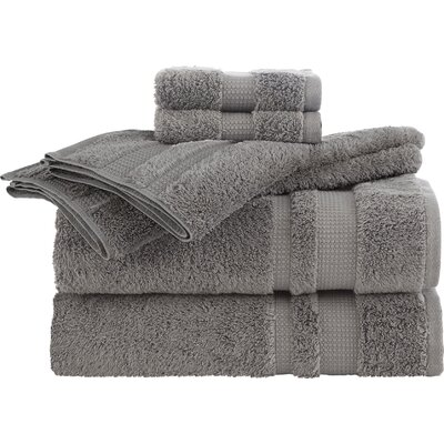 Supima Luxe 6 Piece Towel Set Color: Gray
