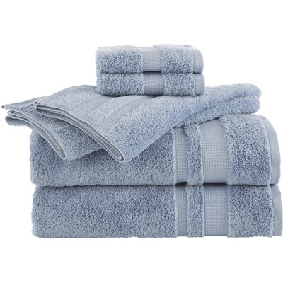 Supima Luxe 6 Piece Towel Set Color: Spa Blue