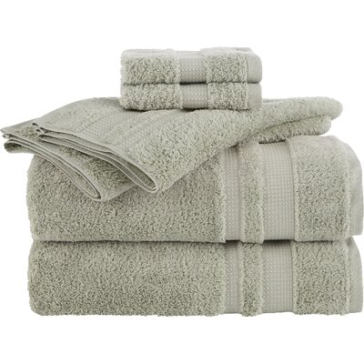 Supima Luxe 6 Piece Towel Set Color: Celadon