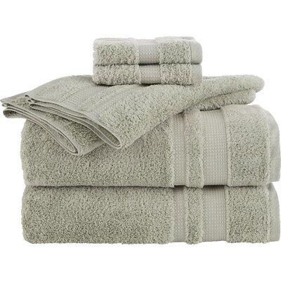 Lannie 6 Piece Towel Set Color: Celadon