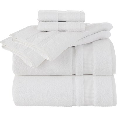 Supima Luxe 6 Piece Towel Set Color: White