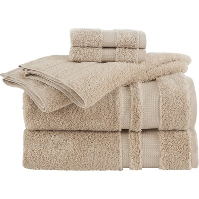 Lannie 6 Piece Towel Set Color: Sand