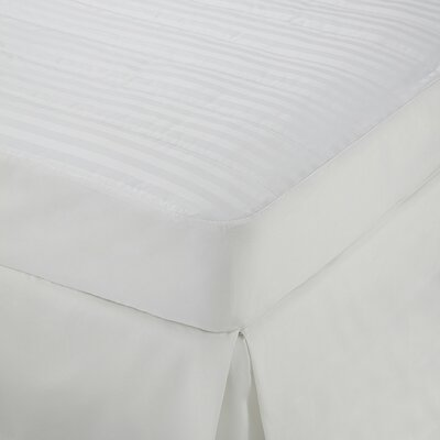 Damask Stripe Down Alternative Mattress Topper Size: King