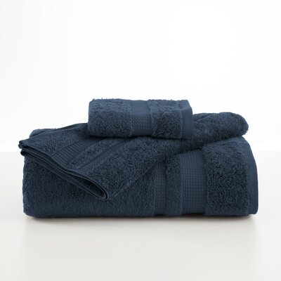 Supima Luxe Wash Cloth Color: Navy