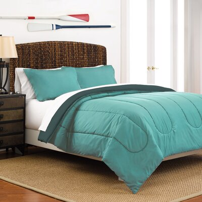 Reversible Comforter Set Size: Full / Queen, Color: Turquoise / Teal