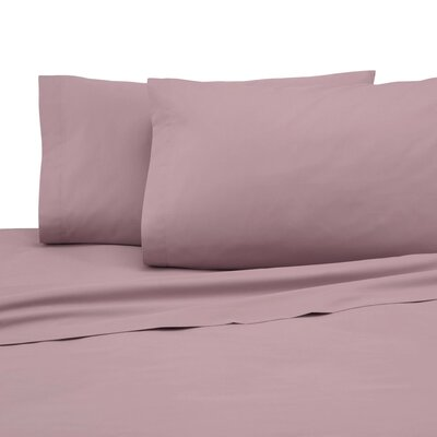 225 Thread Count Pillowcase Color: Dusty Rose