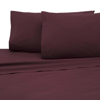 Pillowcase Color: Wine, Size: Standard/Twin