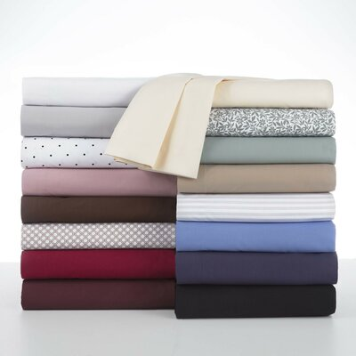 Martex 225-Thread Count Sheet Set in Ticking Stripe Size: Queen