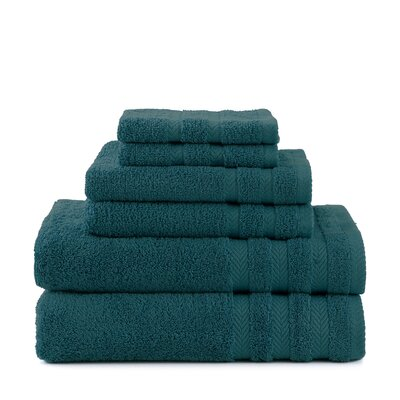 Egyptian 6 Piece Towel Set Color: Dark Aqua
