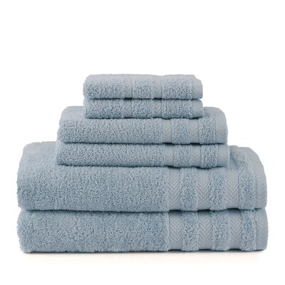 Egyptian 6 Piece Towel Set Color: Dusty Blue