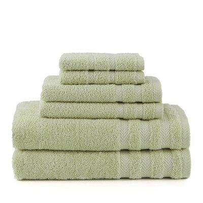 Egyptian 6 Piece Towel Set Color: Soft Jade