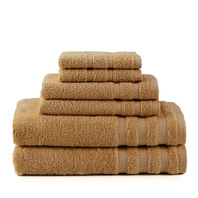 Egyptian 6 Piece Towel Set Color: Cobblestone