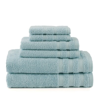 Egyptian 6 Piece Towel Set Color: Mineral