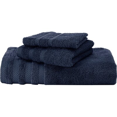 Egyptian Hand Towel Color: Navy