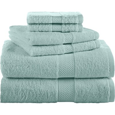 Ringspun 6 Piece Towel Set Color: Beach Glass