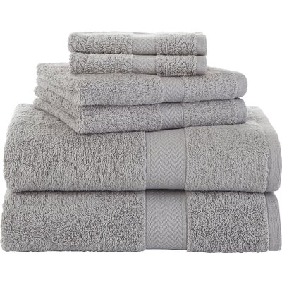 Ringspun 6 Piece Towel Set Color: Silver