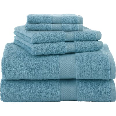Ringspun 6 Piece Towel Set Color: Island Blue
