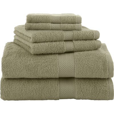 Ringspun 6 Piece Towel Set Color: Sea Green