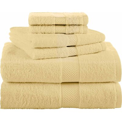 Ringspun 6 Piece Towel Set Color: Lemon