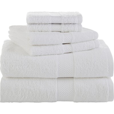 Ringspun 6 Piece Towel Set Color: White