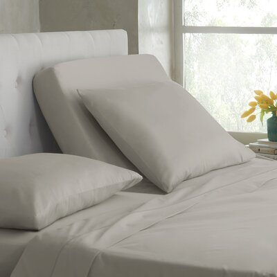 400 Thread Count Cotton Sheet Set Color: Silver